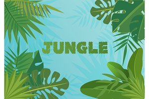 Tropical vector template banner