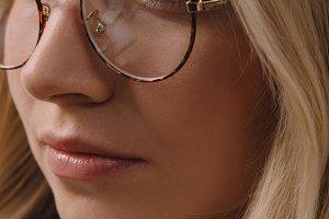 portrait of beautiful pensive woman