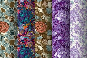 5 Floral Fantasy Patterns
