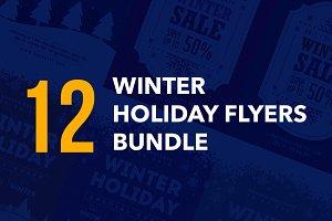 Winter Holiday Flyers Bundle