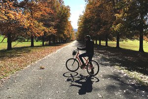 Bicycling in Fall