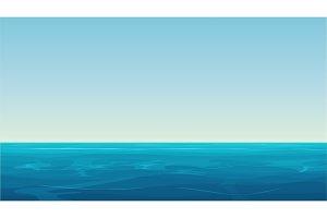 Empty blue oceanlandscape.