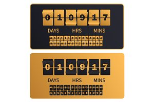 Luxury countdown timer board