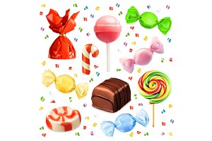 Candies vector icons