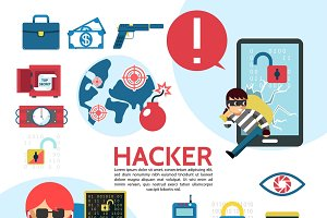 Flat hacking template