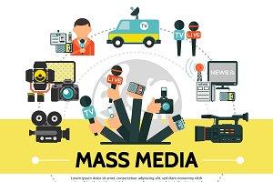 Flat mass media concept