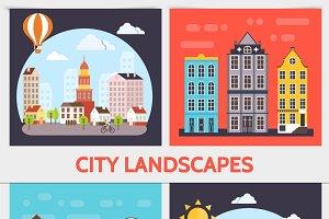 City landscape square concept