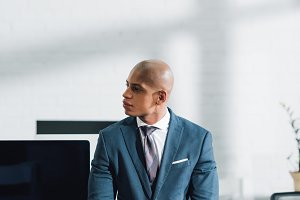 young african american businessman l
