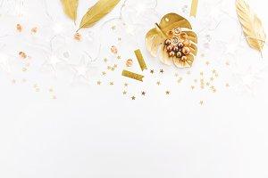 Girly feminine golden Accessories on