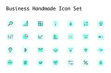 Business Handmade Icon Set