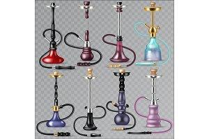 Hookah vector tobacco hooka smoke