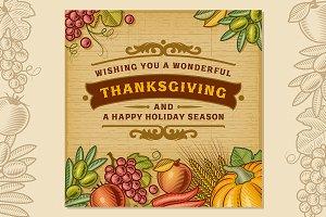 Thanksgiving Vintage Card