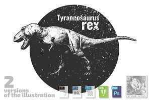 illustration of Tyrannosaurus rex