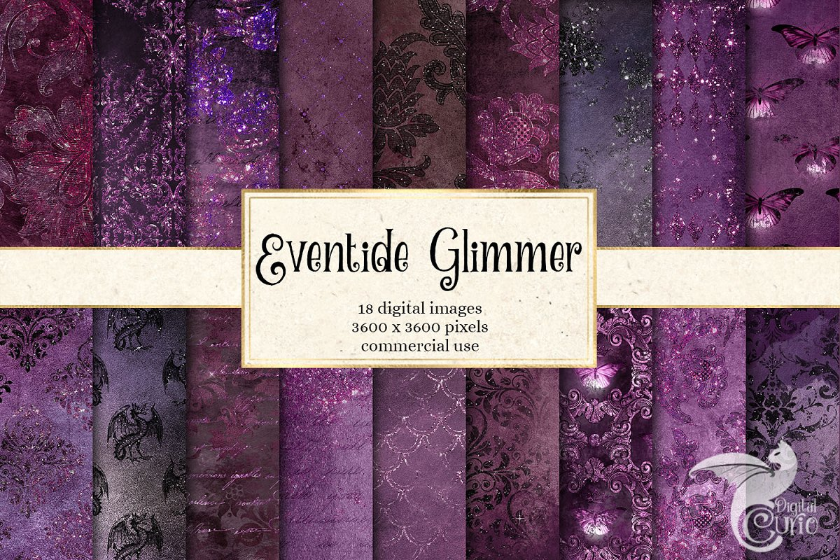 Eventide Glimmer Digital Paper in Textures - product preview 8