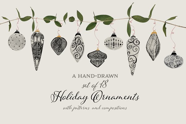 Illustrations and Illustration Products: Annette Brown  - Hand-Drawn Holiday Ornaments & More