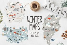 Winter maps by  in Illustrations