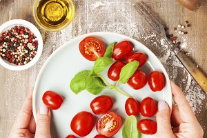 Fresh food ingredients for italian c