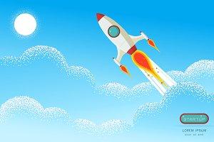 Rocket launch Start up concept