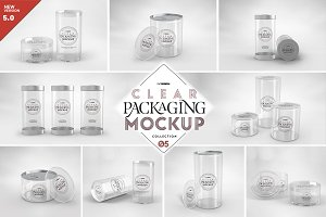 05 Clear Container Packaging Mockups