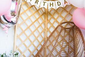 Celebrating first birthday. Photo ba
