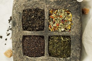 Tea composition with different kind