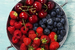 Mix of fresh berries