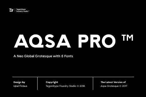 Fonts: Tegami Type - 85% Off - TG Aqsa Grotesque Pro ™