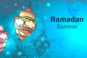 Ramadan Kareem. Lamps for Ramadan.