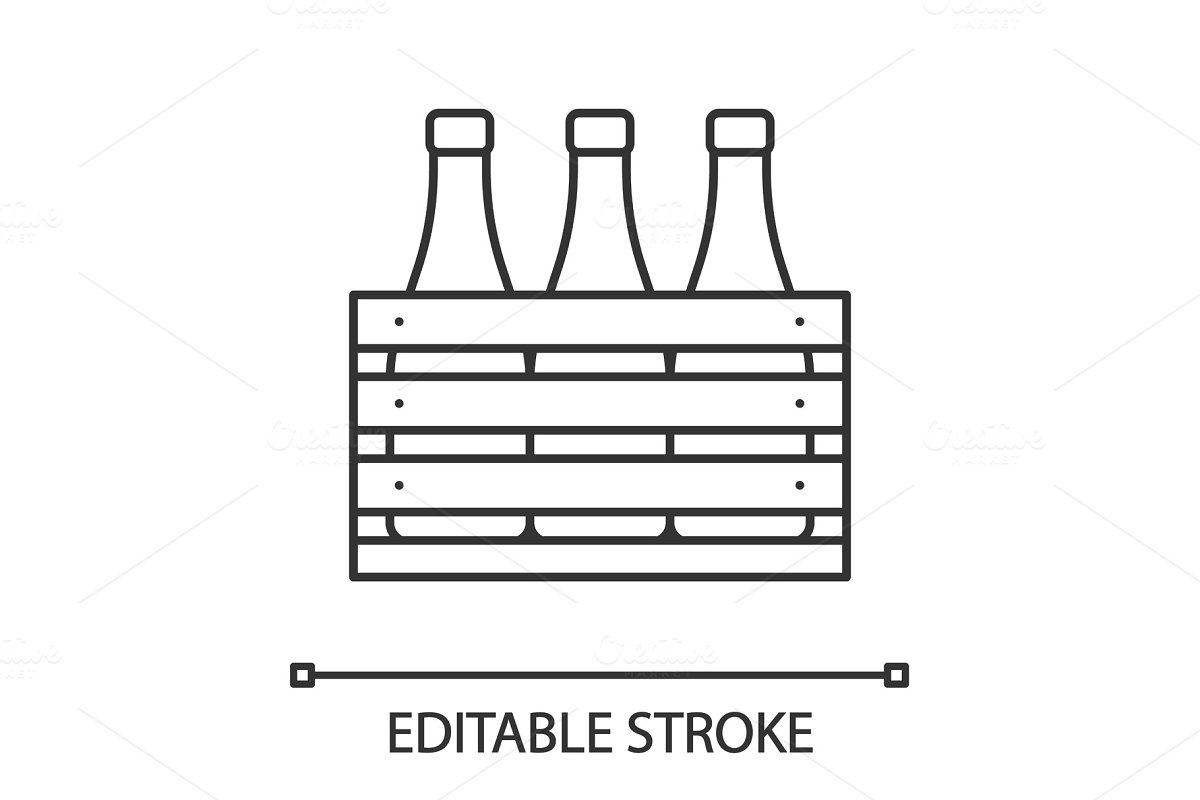 Beer Case Linear Icon