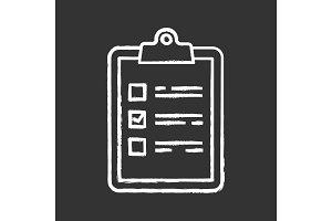 Task planning chalk icon
