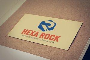 Hexa Rock - Letter R Logo