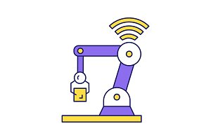 IoT robot color icon