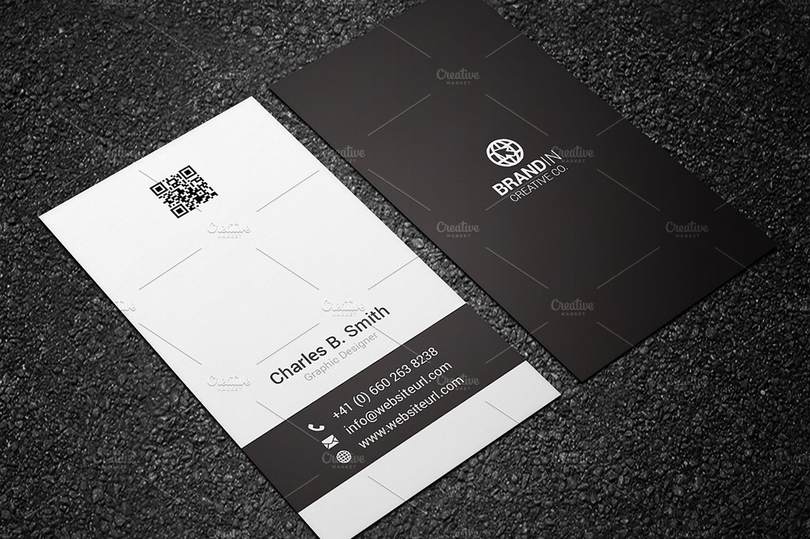 Minimal black white business card business card templates minimal black white business card business card templates creative market magicingreecefo Gallery