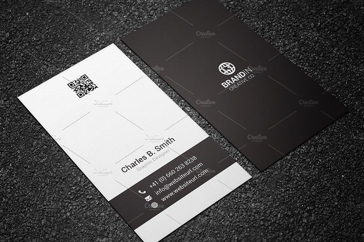 Minimal black white business card business card templates minimal black white business card magicingreecefo Choice Image
