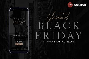 Animated Black Friday Instagram Pack