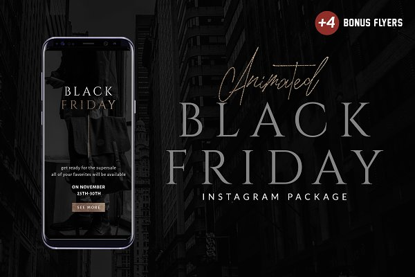 Animated Black Friday Instagram Pac…