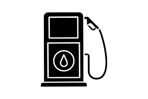 Filling station glyph icon
