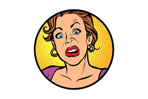 Symbol icon. Woman with a funny