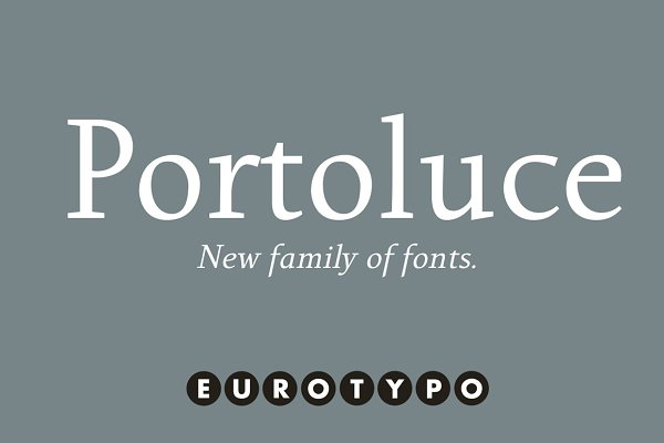 Serif Fonts: Eurotypo - Portoluce