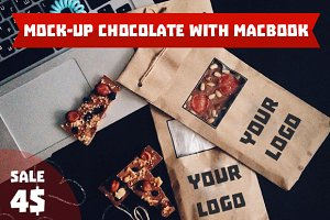 Mock-Up chocolate with MacBook