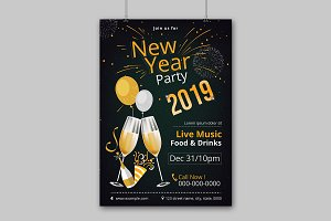 New Year Party Flyer V01