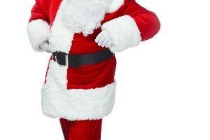 happy santa claus posing at christma