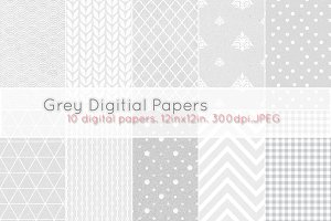 Grey digital papers