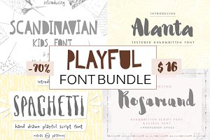 Playful Cute Fun Font Bundle