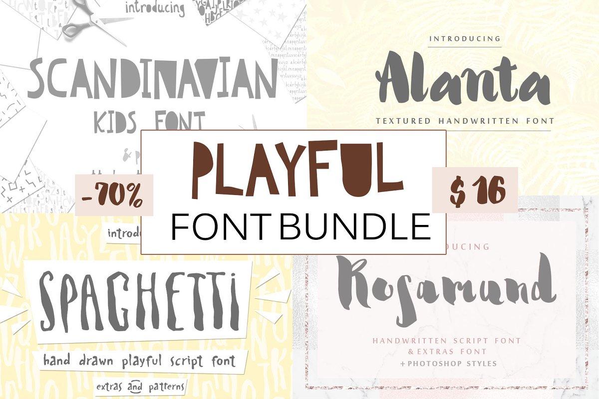 Playful Cute Fun Font Bundle ~ Display Fonts ~ Creative Market