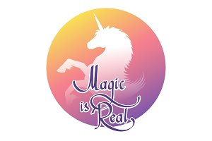 Unicorn magic label