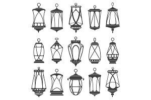 Lanterns for ramadan set