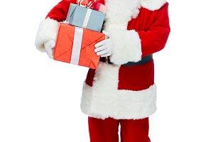 santa claus with white beard holding