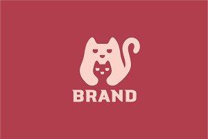 Mama Cat Logo Design