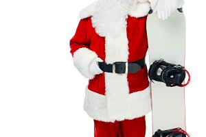 confident Santa claus standing with